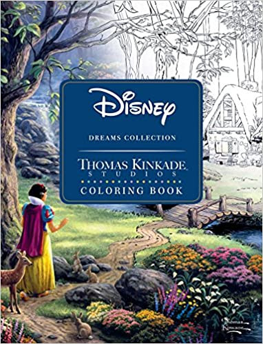 Disney Dreams Collection Thomas Kinkade Studios Coloring Book the photo shoes Snow White