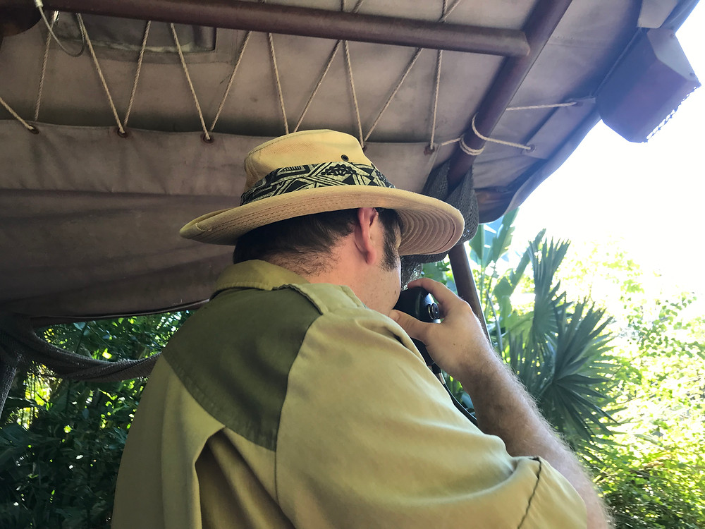 A man who pilots the boat on the Jungle Cruise