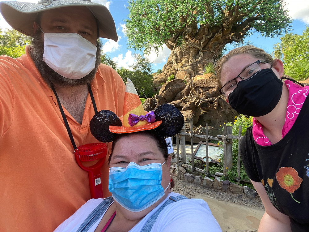 Melissa, David and Gillian at the Tree of Life in Animal Kingdom