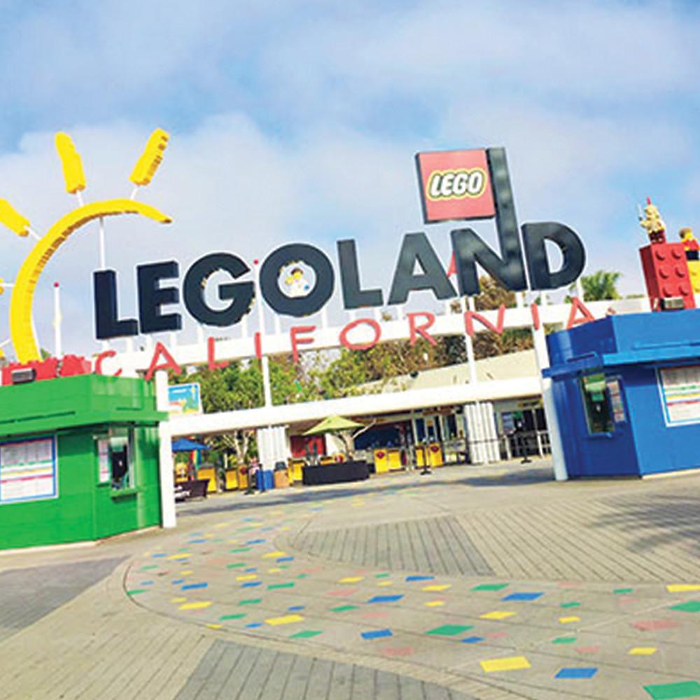 a sign that says Legoland California