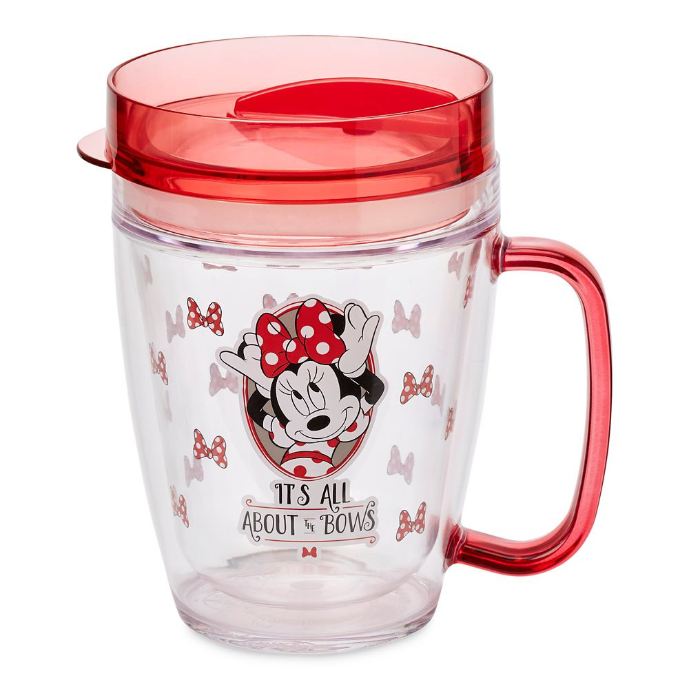 Minnie Mouse cup says Its All About The Bows