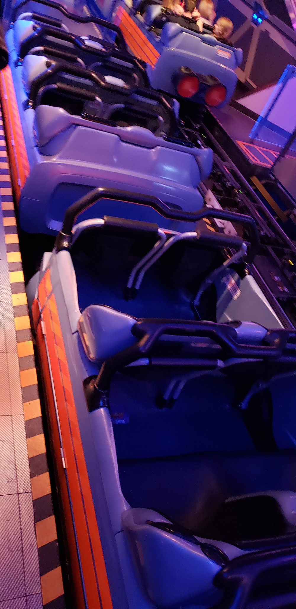 Empty rollercoaster vehicle