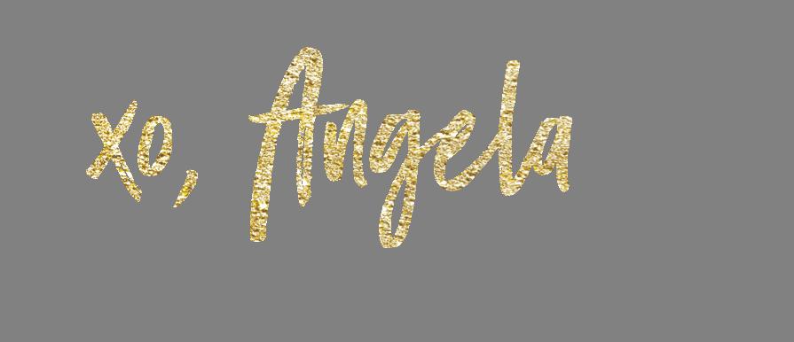 writing angela xo, Angela