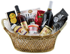 Delivery of Custom Gift Baskets, Local Door County theme. Concierge.