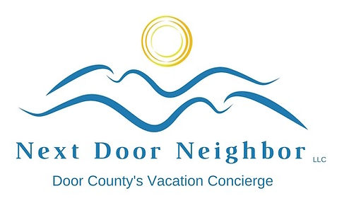 Next Door Neighbor Logo, Door County's Vacation Concierge