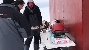 Ice Fishing Door County Sturgeon Bay Green Bay All Inclusive Lunch Breakfast Concierge