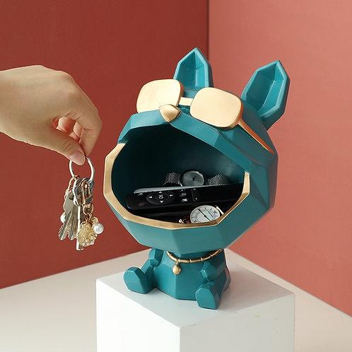 Cool Dog Figurine Big Mouth Storage Box