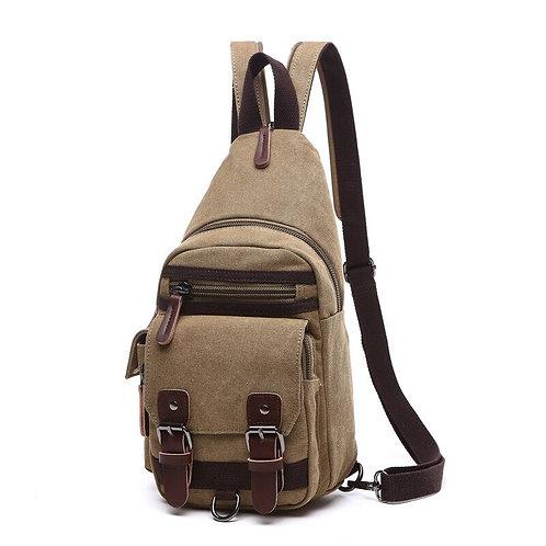 Canvas Chest Bag Pack Vintage Shoulder Bags