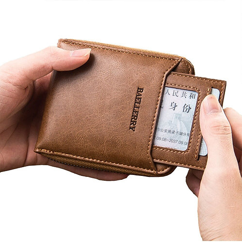Men's Luxury Wallet Leather Zipper