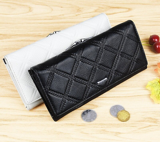 Genuine Leather Wallet Long Coin Purses