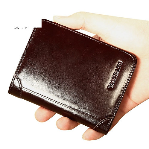Male Genuine Leather Wallets Business Card Holders
