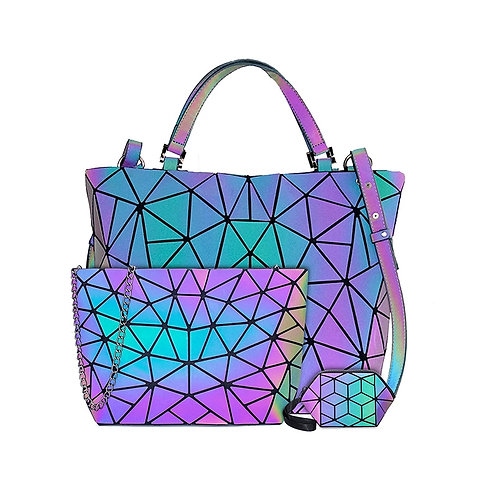 Luxury Geometric Shoulder Bag Folding Tote Crossbody