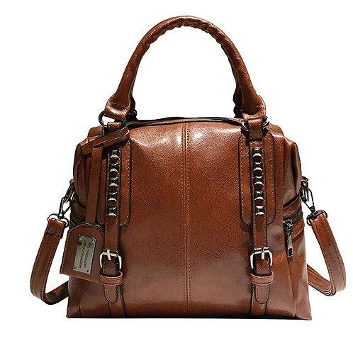 PU Leather Ladies Boston Soft Leather Bag