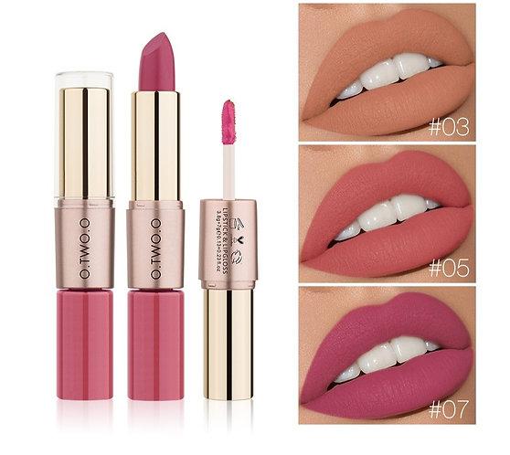 2 in 1 Matte Liquid Lipstick and Matte Lip Gloss