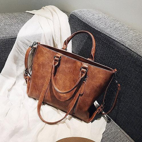 Retro Ladies Big Bag New Simple Portable Tote