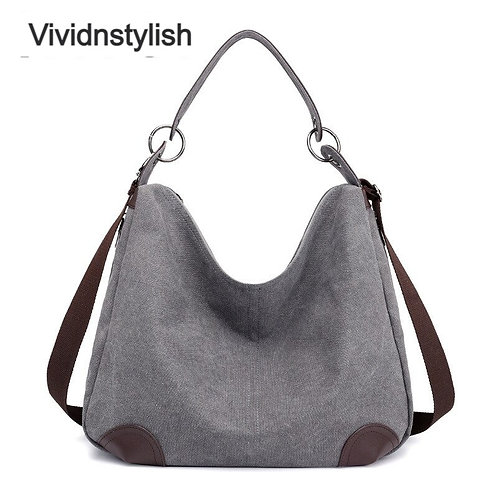 Wide Strap Canvas Bags for Women