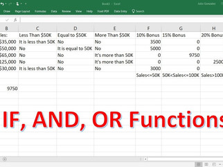 """Learn Excel on the go – Part 11 – """"And"""" & """"OR"""" Functions with """"IF"""""""