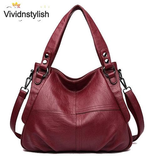 High Quality Leather Handbag Casual Crossbody