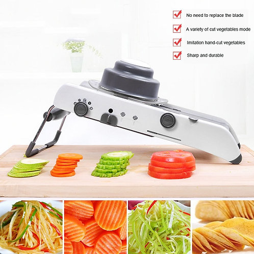 Vegetable Cutter Slicer Manual Grater With Adjustable Stainless Steel Blades