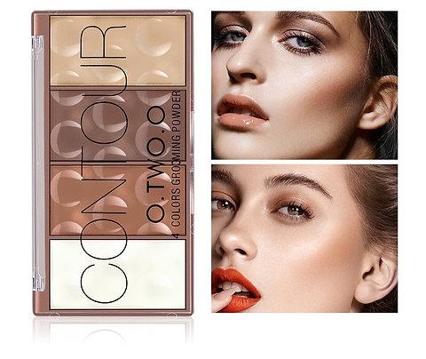 Contour Palette Face Shading Powder 4 Colors Long-Lasting