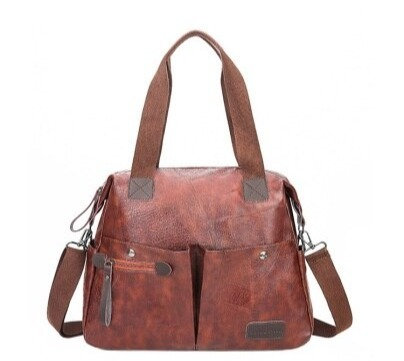 New Large-Capacity Shoulder Bags Vintage PU Leather