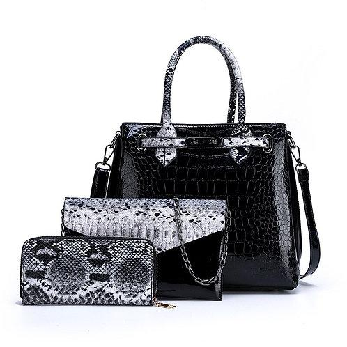 3pcs/Set PU Leather Handbags Large Capacity