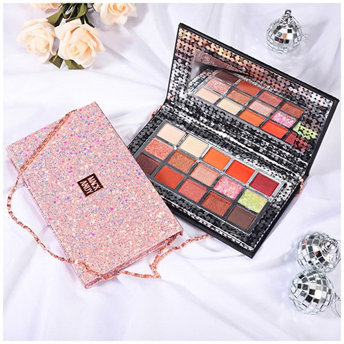 15 Colors Eye Shadow Highlight Portable Bag Shape Powder