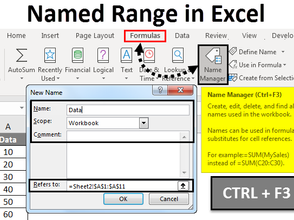 Learn Excel as you go – Part 9 – Name Range