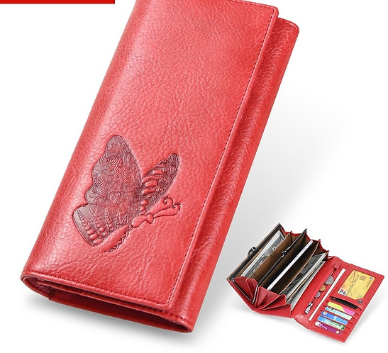 Leather Wallet Long Purse Phone Pouch