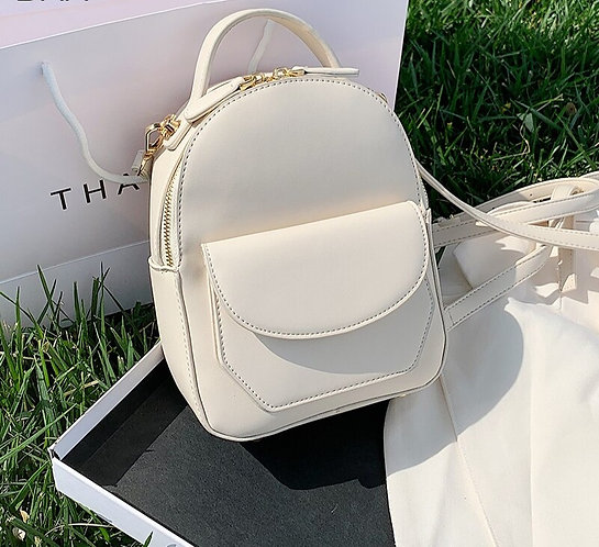PU Leather Solid Color Bags for Ladies
