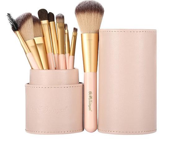 Makeup Brush Set Pink Blush Eyeshadow Concealer Lip Cosmetics