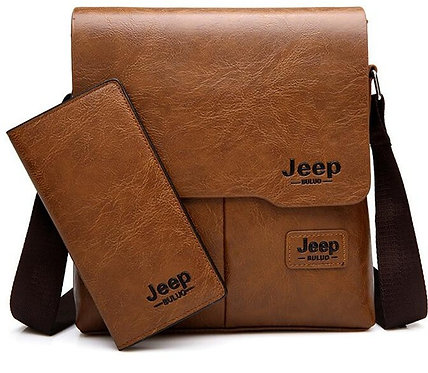 Man's 2pc/Set Leather Shoulder Bag