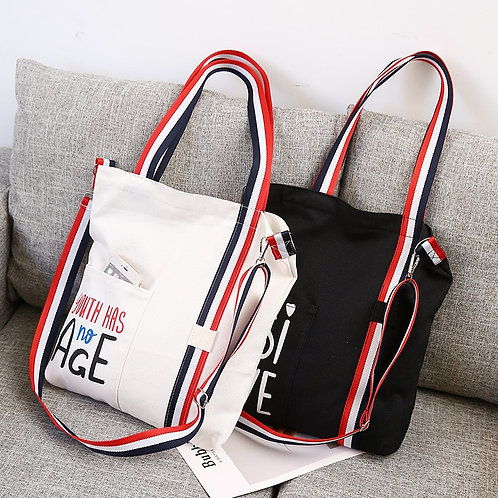 Tote Daily Use Foldable Canvas Shoulder Bag