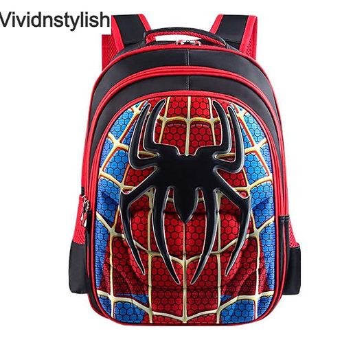 3D Spider Design Waterproof Children's Backpack
