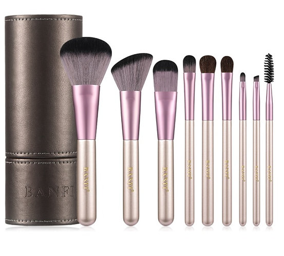 9PCs Makeup Brushes Set Foundation Blending Powder