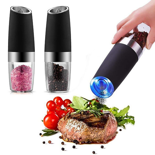 2pcs Set Electric Pepper Mill Battery Powered Automatic