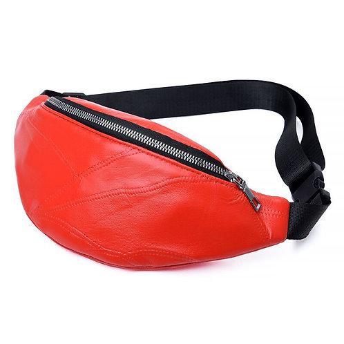 Genuine Leather Women Waist Bag