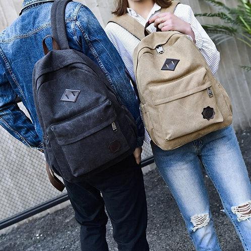 Fashion Students Shoulder Canvas Backpacks