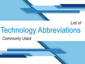 Acronyms and Abbreviations used in the computer world