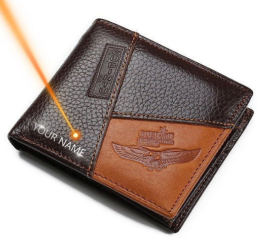 Genuine Leather Coin Pocket Zipper