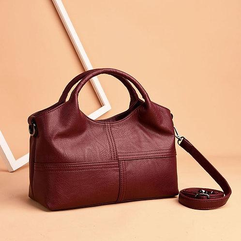Luxury Boston Handbags Genuine Leather