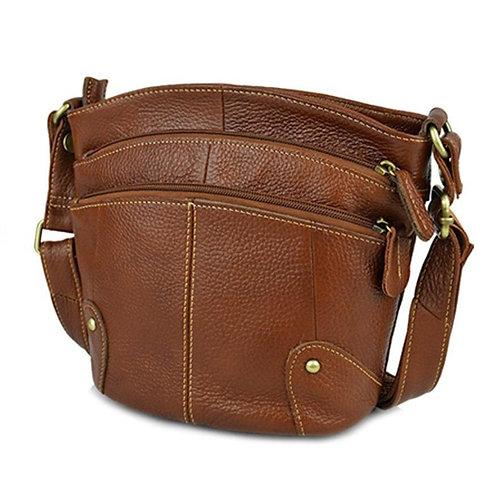 100% Cowhide Women Crossbody Bag