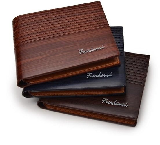 Vintage Men Leather Wallet Short Slim