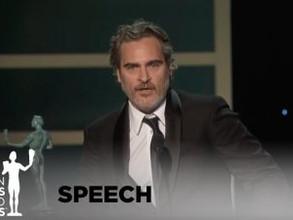 The joker, Joaquin Phoenix speech at SAG awards, and mental health