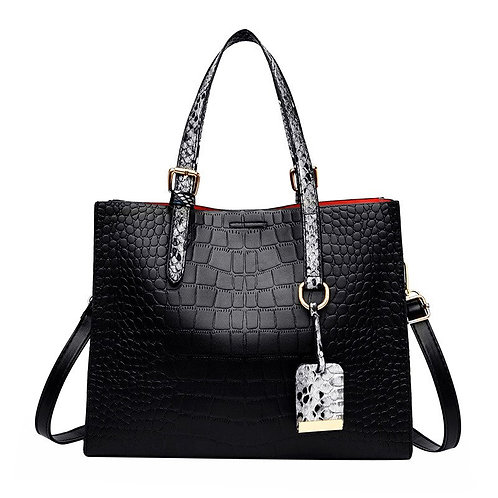 Leather Fashion Crocodile Pattern Shoulder Bag