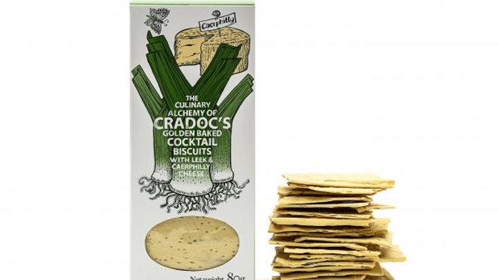 Cradoc's Leek and Caerphilli Cheese Savoury Biscuits