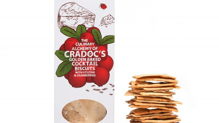 Cradoc's Stilton and Cranberry Savoury Biscuits