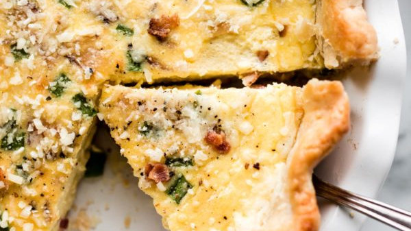Homemade Quiche (per slice)