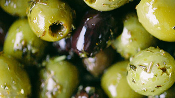 Rosemary and Garlic Pitted Olives