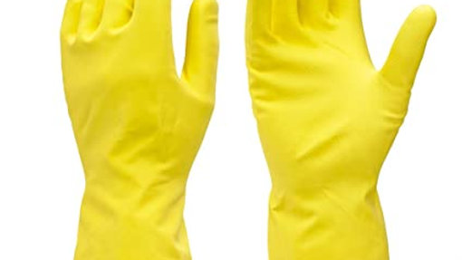 Yellow Rubber Gloves S/M/L (Pair)